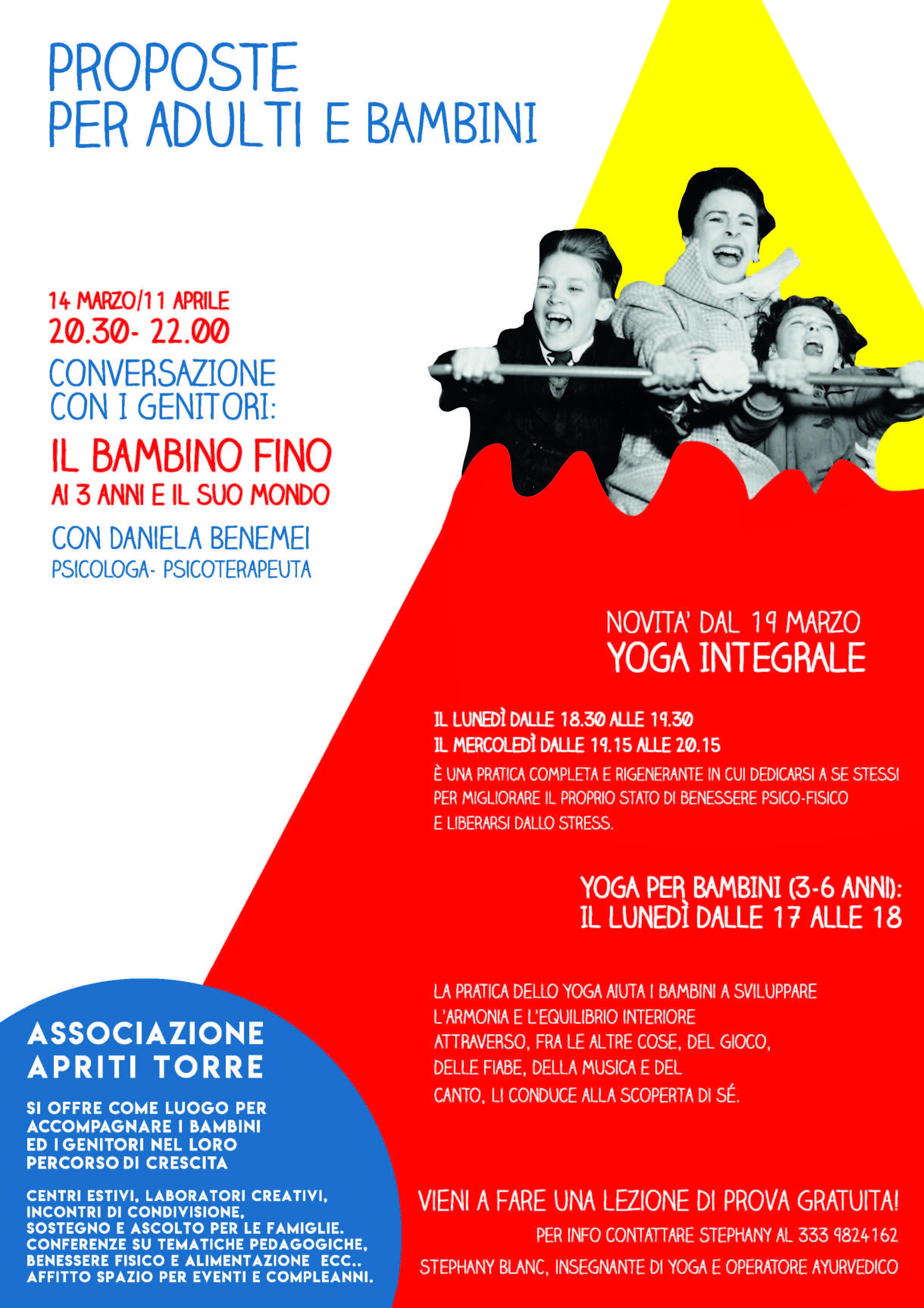 0f50832e221c Giochi, laboratori, yoga e proposte per adulti e bambini con Apriti Torre