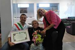 Cento anni per la signora Govoni, gli auguri del sindaco
