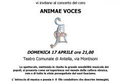 La locandina del concerto di Animae Voces