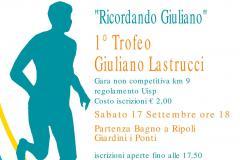 Ricordando Giuliano... sabato 17 settembre 2016 il primo Trofeo Giuliano Lastrucci