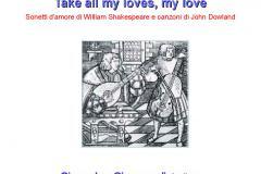 A tutto volume, il 16 marzo in biblioteca Shakespeare: Take all my loves, my love