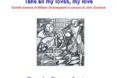 A tutto volume, il 16 marzo in biblioteca Shakespeare: Take all my loves, my love