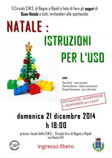 Sms Di Buon Natale.Natale Istruzioni Per L Uso Domenica 21 Dicembre Ore 18