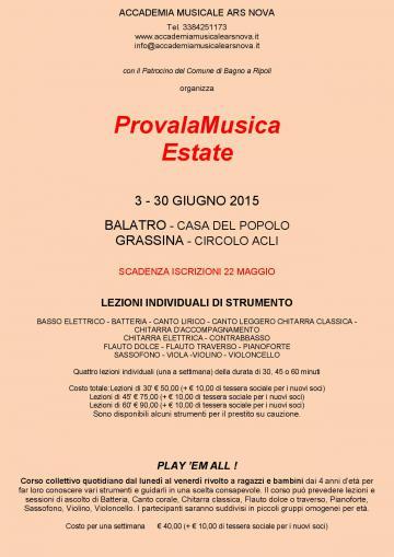 Accademia musicale ars nova provalamusica estate c 39 for Bagno a ripoli matrimonio