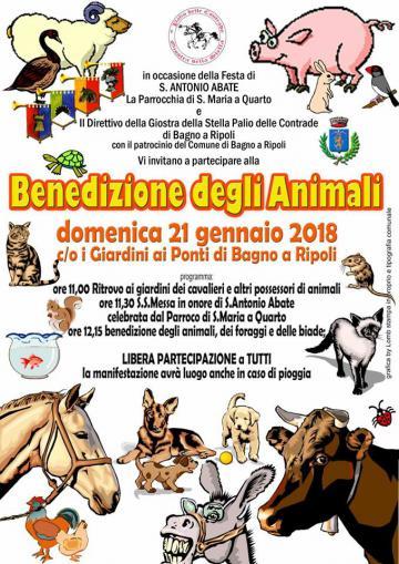 Benedizione degli Animali 2018, domenica 21 gennaio