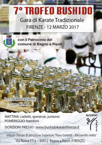Il 7° Trofeo Bushido a Bagno a Ripoli domenica 12 marzo | Bagno a Ripoli