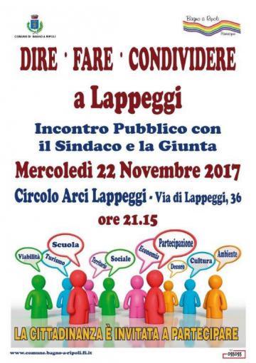 """""""Dire Fare Condividere"""", mercoledì sera assemblea pubblica a Lappeggi"""