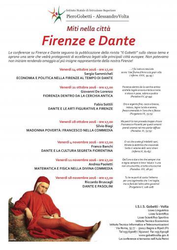 Miti nella città. Firenze e Dante (24 ottobre-18 novembre 2016 ...