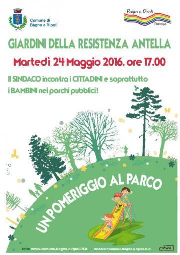 Un pomeriggio al Parco: Martedì 24 maggio 2016, ore 17