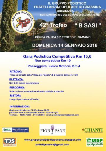 42° Trofeo B. Sasi – Domenica 14 gennaio
