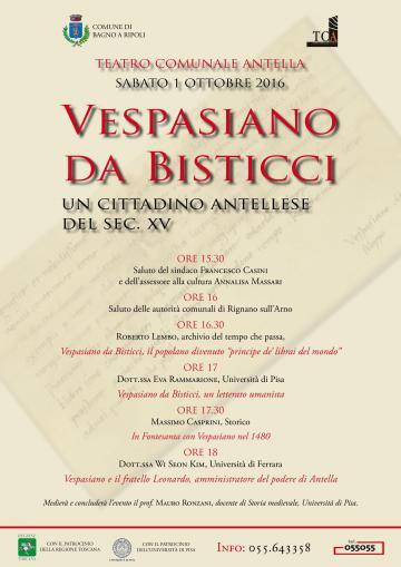 Vespasiano da bisticci un cittadino antellese del sec xv - Vespasiano bagno ...