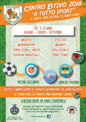 A Tutto Sport, Centro estivo Sport Academy al Gobetti Volta | Bagno ...