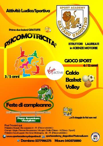Psicomotricità e altro con Sport Academy D'Agostino