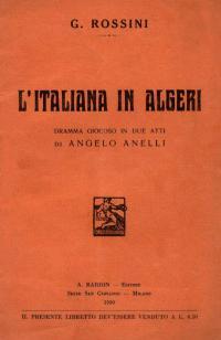 Conversazioni musicali in Biblioteca Comunale: il 1° marzo L'Italiana in Algeri, di Gioacchino Rossini