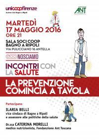 La prevenzione comincia a tavola: incontro con Fondazione Ant e Unicoop Firenze