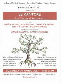 Le Cantore dalla Toscana al Mondointero alla Casa del Popolo Grassina il 26 marzo