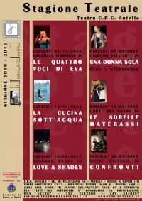 Al via la seconda stagione teatrale 2016/17 del Teatro del Crc Antella patrocinata dal Comune di Bagno a Ripoli
