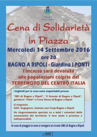 Cena di Solidarietà a Bagno a Ripoli