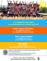 Centri Estivi in Inglese