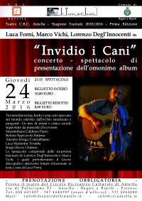 """""""Invidio i cani"""", concerto-spettacolo"""