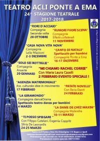 XXIV Stagione Teatrale 2017/18 Acli Ponte a Ema (28 ottobre 2017 – 24-25 marzo 2018)