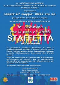 In cammino per la pace e i diritti: Staffetta 10x1000 metri il 27 maggio