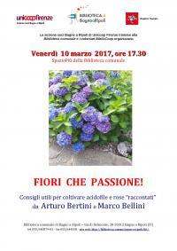 Fiori che passione! in Biblioteca venerdì 10 marzo
