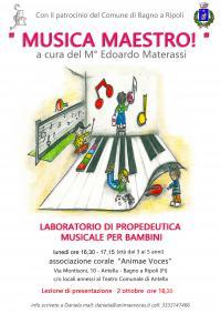 Musica, maestro! con Animae Voces, lezione di presentazione il 2 ottobre