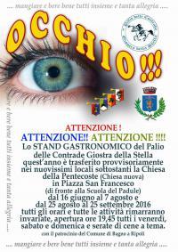Stand Gastronomico del Palio dal 16 giugno 2016