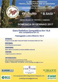 41° Trofeo B. Sasi – Domenica 8 gennaio 2017