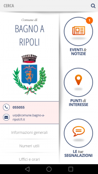 Tutta Bagno a Ripoli nella nuova App del Comune