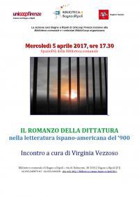 Il romanzo della dittatura nella letteratura ispano-americana del '900 - in Biblioteca mercoledì 5 aprile