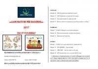 Semi di Creatività - Programma gennaio-marzo 2017 dei laboratori per bambini
